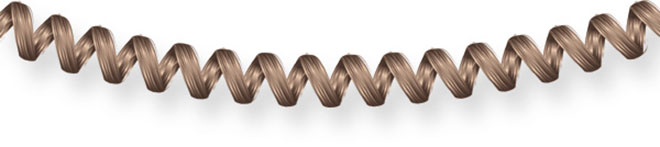 Illustration of coiled telephone lead made from hair for L'Oréal advertising campaign by Huldrick.