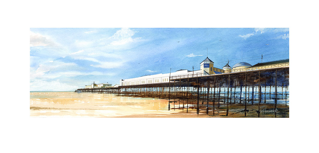 Limited edition print of Hastings Pier by Hastings artist Huldrick.