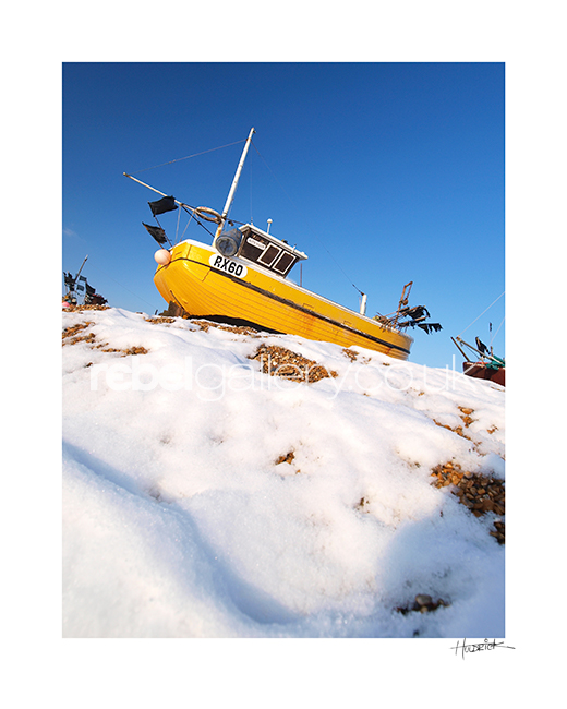 "Photograph of Hastings trawler RX60 by Hastings Photographer Jon ""Huldrick' Wilhelm."