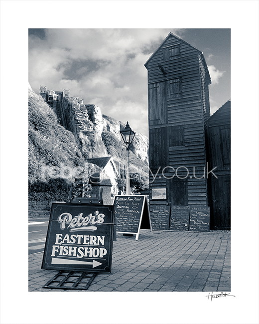 Peter's Eastern Fish Shop Hastings. Photograph by Hastings photographer Jon Wilhelm.