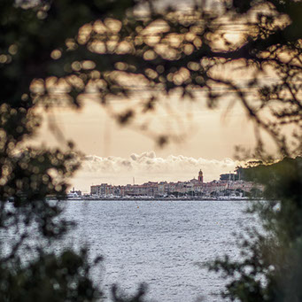 Photograph of St Tropez in the erarly morning light